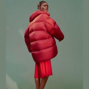 Uniqlo U oversized down red puffer jacket